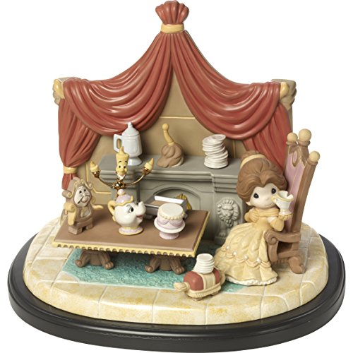 Precious Moments 164046 You're The One I've Been Waiting for Bisque Porcelain Sculpture on Wooden Base Masterpiece 4th Edition Disney Showcase Collection, (Moment Limited Edition)