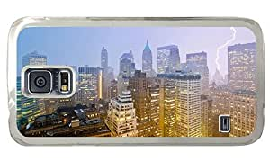 Hipster Samsung Galaxy S5 Case fashion cases new york lightning PC Transparent for Samsung S5
