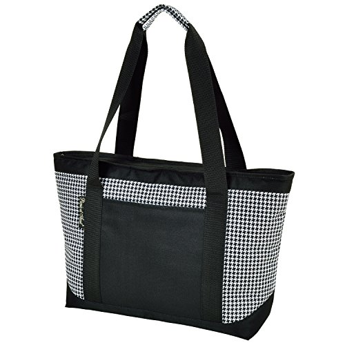 Picnic at Ascot Houndstooth Large Insulated Tote, Black