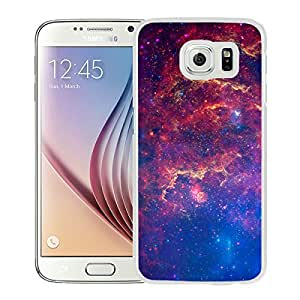Custom Luxury Cover Case With Fantasy Shiny Nebula Outer Space White Samsung Galaxy S6 Case