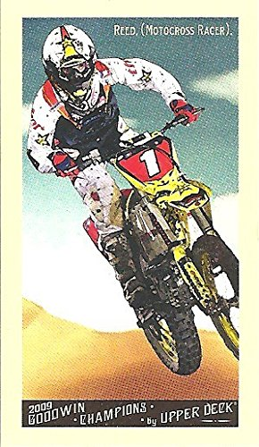 CHAD REED COLLECTIBLE TOBACCO SIZE TRADING CARD - 2009 UPPER DECK GOODWIN CHAMPIONS MINI TRADING CARD #55 (MOTOCROSS RACING) FREE SHIPPING AND TRACKING