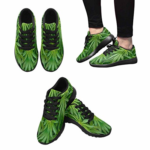 Scarpa Da Jogging Leggera Da Donna Running Running Leggera Easy Go Walking Comfort Sport Scarpe Da Corsa Marijuana Fogliame Background Multi 1