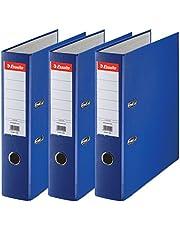 Esselte 624291 - Archivador con anillas (Capacidad 550 hojas, 3 unidades), azul