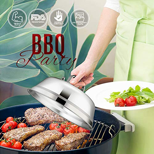 Melting Grill Dome BBQ Cheese Burger Steak Cooking Grilling Cover Basting Indoor