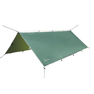 3m x 3.7m - Waterproof Rain Tarp Sunshade Tarp Shelter Picnic Shelter for Hammock Camping by theBlueStone
