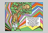 """Buyenlarge Alice in Wonderland: Alice and The Cheshire Cat - Gallery Wrapped 44""""X66"""" Canvas Print, 44"""" X 66"""""""
