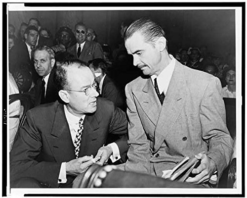 Photo: Howard Hughes,his attorney,T.A. Slack,Senate War Investigating Committee,1947
