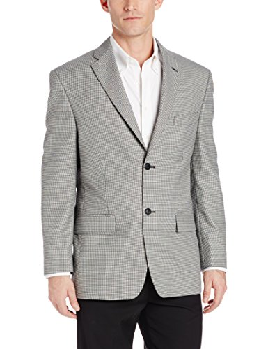 Houndstooth Blazer (Haggar Men's Houndstooth Sport Coat,  Black, 48)