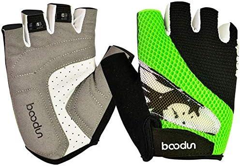 手袋 サイクリンググローブ サイクルグローブ 自転車 手袋 衝撃吸収 耐磨耗性 換気性 通気性 速乾性 SGSJP (Color : 緑, Size : S)