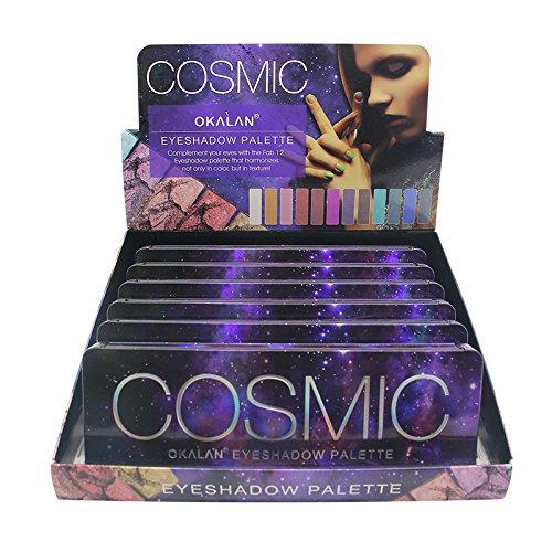 ウォルターカニンガムボタン確率OKALAN Cosmic Eyeshadow Palette Display Set, 6 Pieces (並行輸入品)