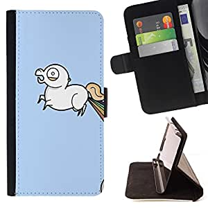 Momo Phone Case / Flip Funda de Cuero Case Cover - Unicorn Rainbow - Lol Wtf Funny - Samsung Galaxy S3 III I9300