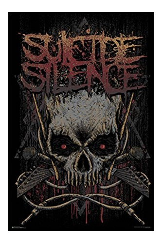 Suicide Silence Logo Music Poster