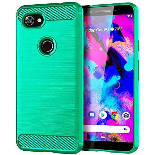 Google Pixel 3a Case,Yiakeng Shock Resistant Soft Glitter TPU Anti-fingerprint Full Protective Phone Cases for Google Pixel 3a/3 Lite 5.6 (Green)