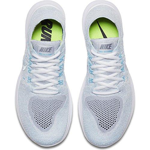 Nike Women's Free RN Flyknit 2017 Running Shoe PURE PLATINUM/METALLIC SILVER 9.5 by NIKE (Image #2)