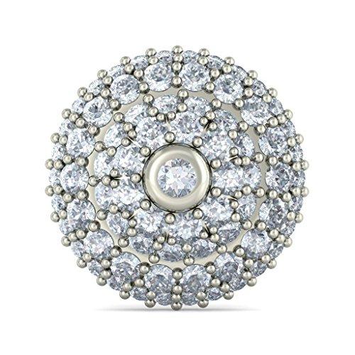 Or blanc 14K 1.366CT TW Round-cut-diamond (IJ | SI) Boucles d'oreille à tige