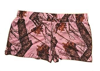 Weber Camo Jersey Shorts Soft Poly Mossy Oak Breakup Pink Small