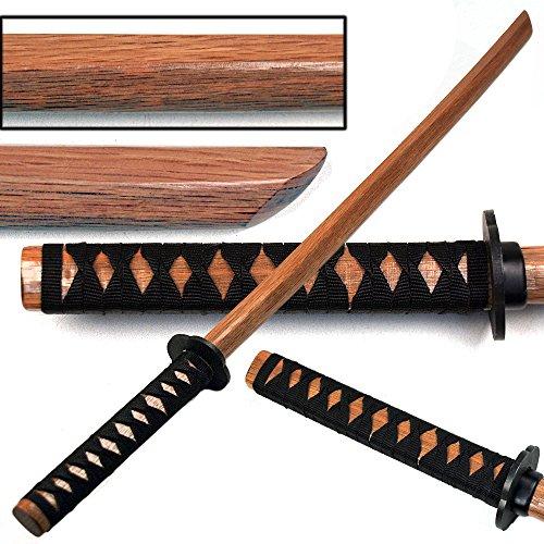 Ace Martial Arts Supply Kendo Wooden Natural Bokken Practice Samurai Katana Sword, 40-Inch (Natural w/ Bk Cord)