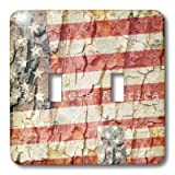 3dRose lsp_28061_2 American Flag God Bless America Double Toggle Switch