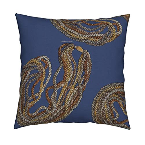 Roostery Niihau Shells Eco Canvas Throw Pillow Cover Hawaii Native Hawaiian Indigenous by Honoluludesign Cover w Optional Insert