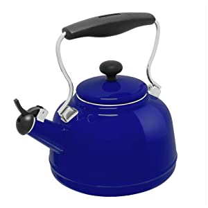 Chantal Cobalt Blue Enamel-on-Steel 1.7 Quart Vintage Teakettle