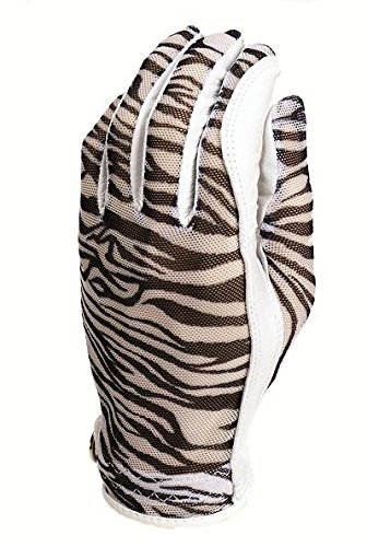 Evertan Gloves Golf (Evertan Women's Tan Through Golf Glove: Zebra - Large Left Hand)