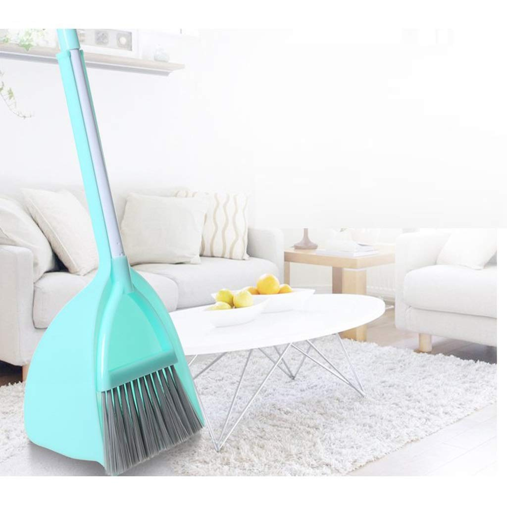 Lsxlsd 2-piece 20.4x6.2inches,Mini Whisk Broom And Dustpan Set,Children's Broom Baby Play House Toy Mini Sweep Corner Cleaning Brush Combination Small Broom by Lsxlsd (Image #1)