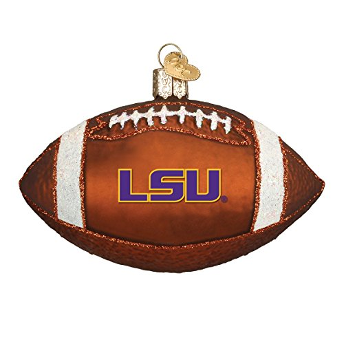 Old World Christmas Ornaments: LSU Football Glass Blown Ornaments for Christmas Tree