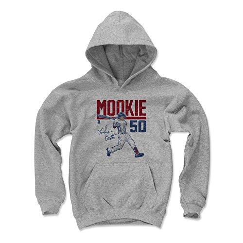 500 LEVEL Mookie Betts Boston Baseball Youth Sweatshirt (Kids Large, Gray) - Mookie Betts Hyper R