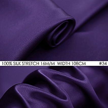 Amazon.com  95% Silk 5% Spandex Silk Stretch Satin Fabric 16m m ... 74b8187f8