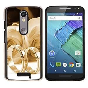 EJOOY---Cubierta de la caja de protección para la piel dura ** Motorola Moto X3 3rd Generation ** --Testigo del amor