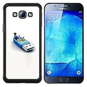 Memoria Usb Sistema Pingüino Pc Informática- Metal de aluminio y de plástico duro Caja del teléfono - Negro - Samsung Galaxy A8 / SM-A800