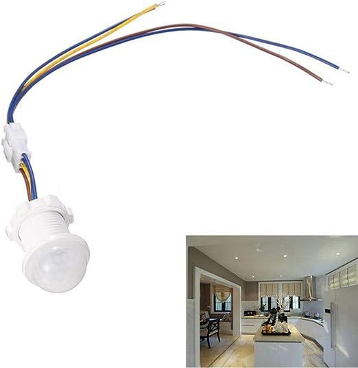 AC 85-265V PIR Infrared Body Motion Sensor Detector Control Switch Light Lamp