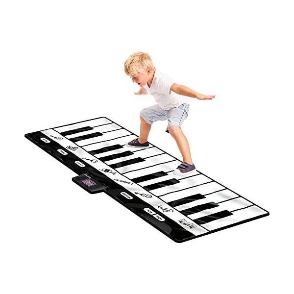 51w5H6aM8qL. SS600  - Click N' Play Gigantic Keyboard Play Mat, 24 Keys Piano Mat, 8 Selectable Musical Instruments + Play -Record -Playback…