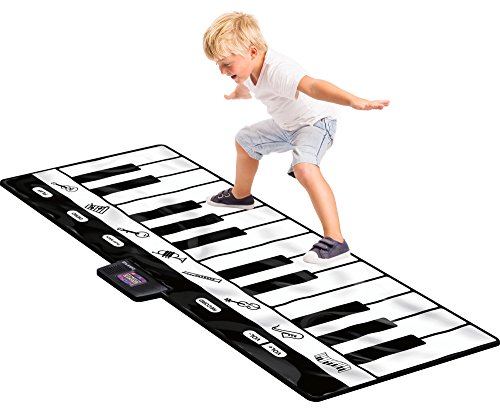 Click N' Play Gigantic Keyboard Play Mat, 24 Keys Piano Mat, 8 Selectable Musical Instruments + Play -Record -Playback -Demo-mode]()