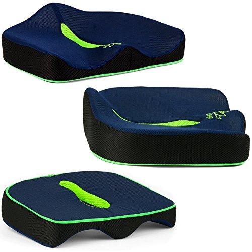 Genx Car Seat Cushion Premium Tailbone Pad For Sciatica Pain Relief Sit In Comfort For Hours