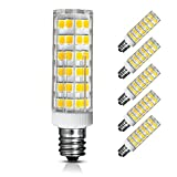 [5-Pack] E12 LED Bulb Dimmable, 6W Equivalent to 60W-75W Incandescent lamp or Halogen Bulb, 650 Lumens, Daylight 6000K, AC110V or 130V