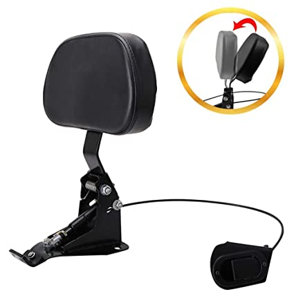 Frames & Fittings For Harley Touring Electra Road Street Glide Road King 1997 To 2017 Motorcycle Adjustable Plug In Driver Rider Seat Backrest Kit Excellent Quality