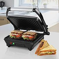 Jago Sandwichmaker Paninimaker Toaster mit Abtropfschale, 2 Kontrollleuchten...