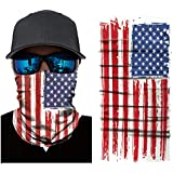 Yamde 3D Face Sun Mask, Neck Gaiter, Headwear, Magic Scarf, Balaclava, Bandana, Headband Fishing, Hunting, Yard Work, Running, Motorcycling, UV Protection, Great Men & Women (red, m)
