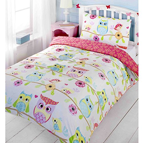 Owl and Friends Junior/Toddler Duvet Cover and Pillowcase - Junior Bed Set