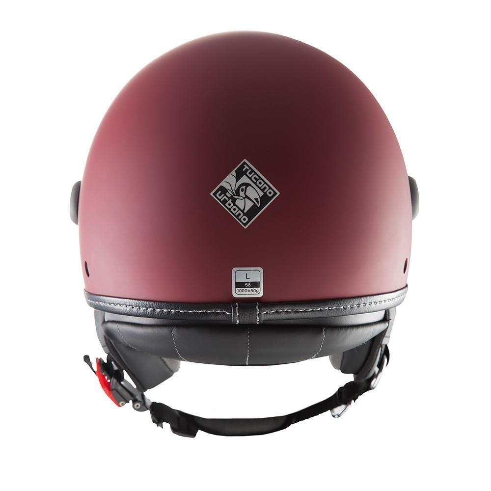 54 cm Casco aperto ElMettin Biking Rosso Opaco taglia XS