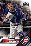 2016 Topps World Series #WS-16 Willson Contreras Chicago Cubs Baseball Card in Protective Screwdown Display Case