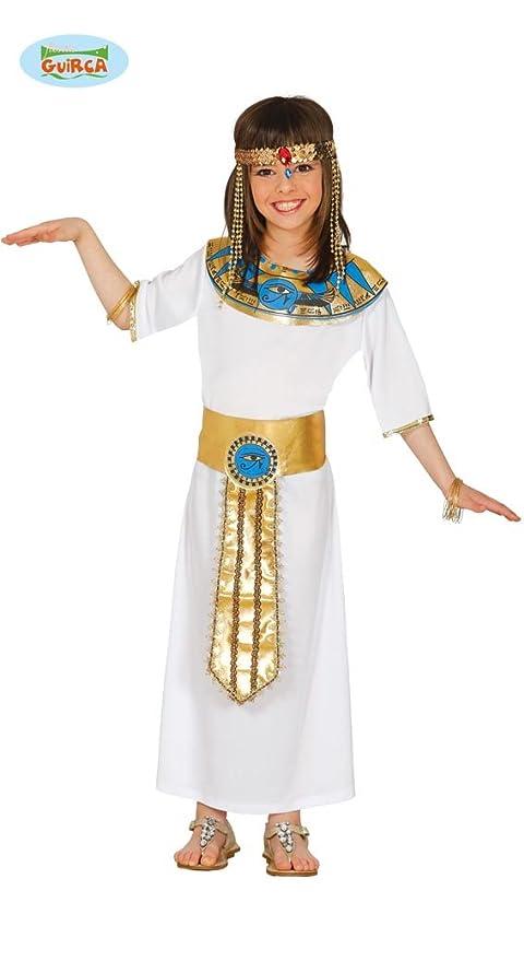 Costume Nefertiti egiziana Cleopatra carnevale bambina taglia 5-6 anni 17784193cd3