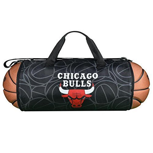 Chicago Bulls Basketball To Duffle bag, Sports Fan Official NBA Duffle Bags by Maccabi Art