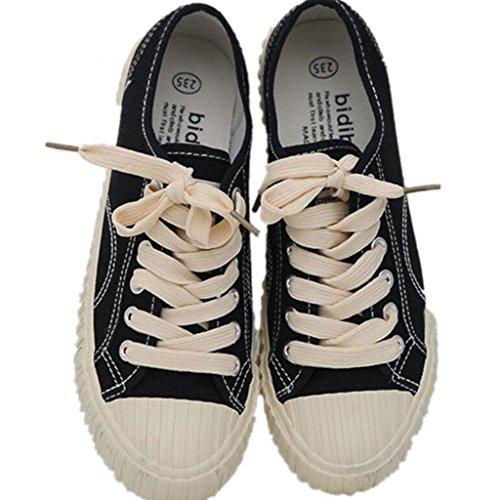 BLACK Clásico De 35 Colores XIE La Lino Verano Zapatos Señora De Estudiantes Compras Zapatos Movimiento Escuela Cómodo De De Ocio 39 Tres wxAxBgqR