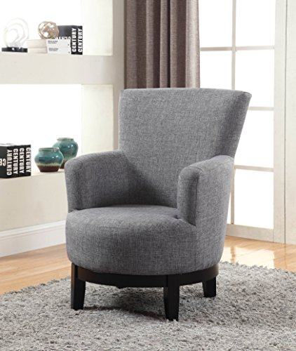NHI Express 90019-27GY Dominic Swivel Accent Chair, Regular