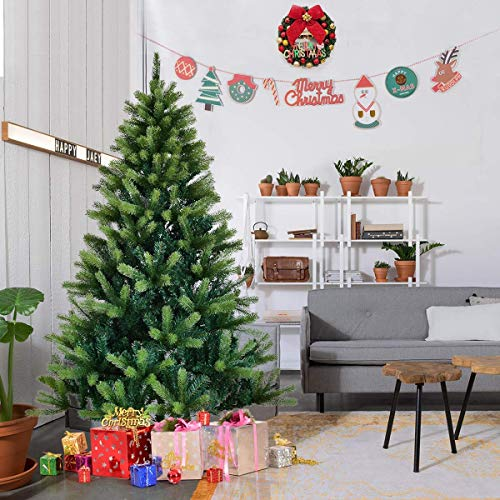 l Christmas Tree Carolina Pine Tree w/Metal Stand PE & PVC Mixed Needles ()