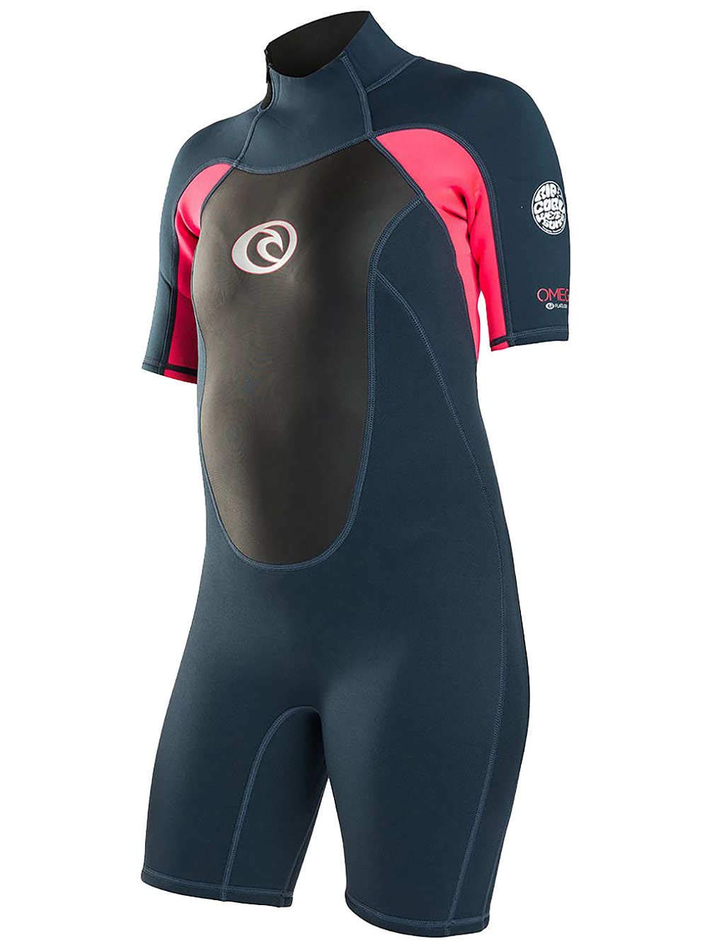 RIP CURL Womens Omega 2MM Back Zip Spring Shorty Wetsuit Neon Pink   Amazon.co.uk  Sports   Outdoors aa1af3d9a