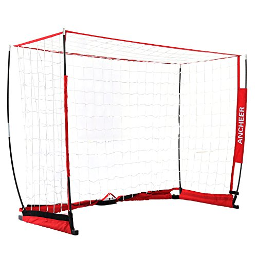 Soccer Net Hooks (ANCHEER Soccer Goal Net, Portable and Foldable Soccer Nets, 6 x 4 ft Bow Net with Carry Bag (6 x 4 ft))