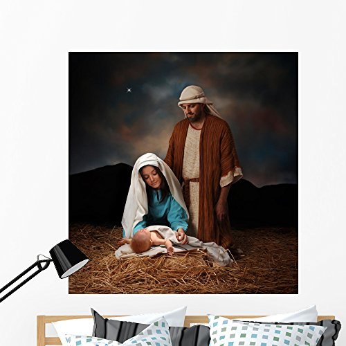 Jesuss Birth Wall Mural by Wallmonkeys Peel and Stick Graphic (48 in H x 46 in W) WM109008 (Birth Jesuss)